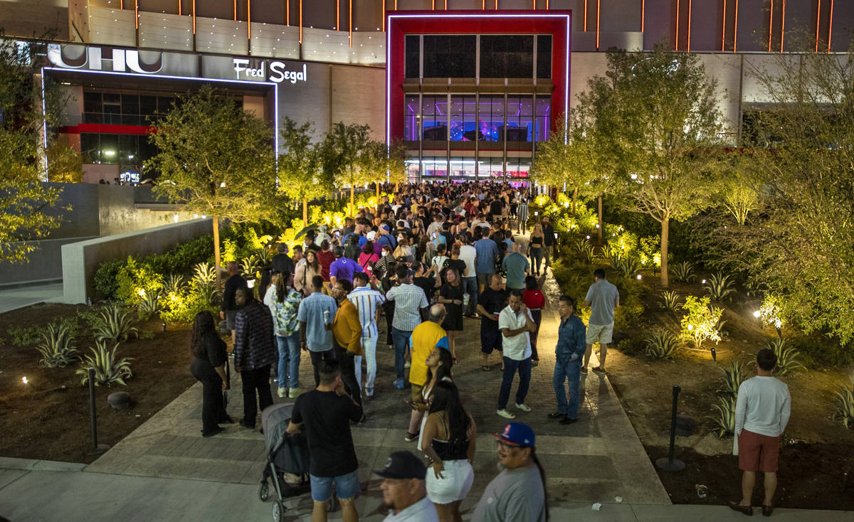 A large crowd gathers to enter Resorts World Las Vegas on Friday, June 25, 2021, in Las Vegas. ...